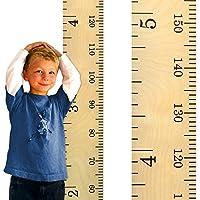 Growth Chart Art Schoolhouse Wooden Ruler Growth Chart for Kids, Boys & Girls