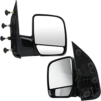SCITOO Side View Mirror Passenger Side Mirror Fit Compatible with 2002-2008 Ford E150 Van 2002-2008 Ford E250 Van 2002-2008 Ford E350 Van E450 Van E550 Van Puddle Light FO1321253