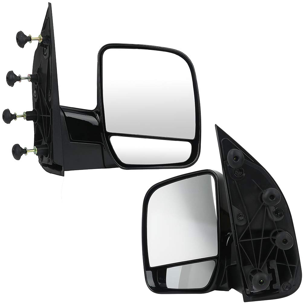 ECCPP Folding Manual Side View Mirrors Left & Right Pair Set for 2002 2003 2004 2005 2006 2007 2008 Ford E150 E250 E350 E450 E550 Econoline Van (A Pair) by ECCPP