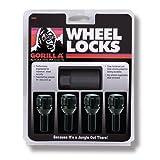 Gorilla Automotive 47179NBC(Black) Cone Seat Bolt Locks (12mm x 1.50 Thread Size)