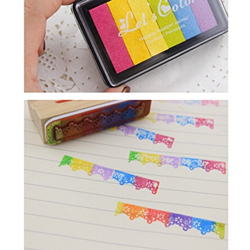 VWH 6 Color Inkpad Gradient Seal Mate Colour Stamp Pad (Pink color) by VWH (Image #7)