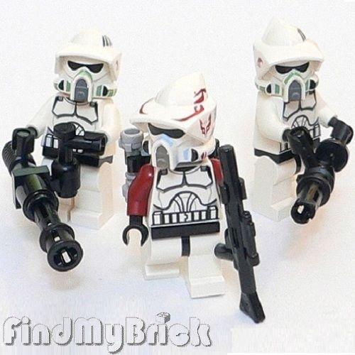 x3 Lego Star Wars ARF Elite Clone Trooper Minifigures