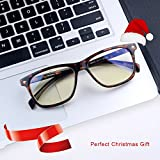Blue Light Blocking Computer Glasses[Better Sleep]Shileded Anti Blue Light Filter Glasses,Anti Glare Reading/Gaming Glasses for Men and Women(Tortoise)