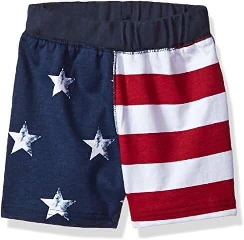 The Children's Place Baby Boys' Li'l Guy's USA Flag Shorts