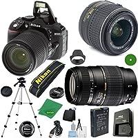 ZeeTech Ultimate Bundle for D5300 24.2 MP DSLR, NIKKOR 18-55mm f/3.5-5.6 Auto Focus-S DX VR, Tamron 70-300mm DI LD Zoom, Tripod, 6pc Cleaning Set