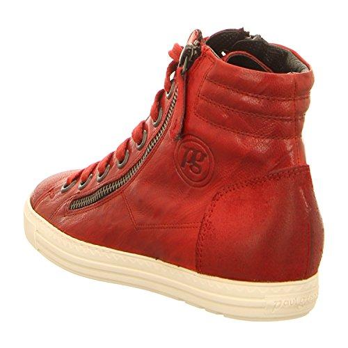 Paul Green 4213-138 - Zapatos de cordones para mujer Rojo