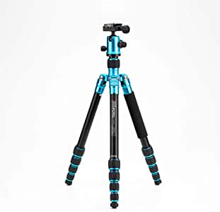 "MeFOTO RoadTrip Classic Lightweight 61.6"" Aluminum Travel Tripod/Monopod w/Case, Twist Locks, Triple Action Ballhead w/Arca Swiss Plate for Mirrorless/DSLR Sony Nikon Canon Fuji - Blue (A1350Q1B)"