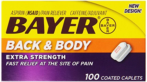 - Bayer Extra Strength Caplets, Back and Body 500 mg, 100 count (5 Pack)