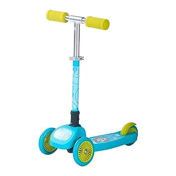 Rocket conejo® Kids Mini 3 ruedas patinete plegable Altura ajustable inclinación natación Kick Push Scooter con T-Bar