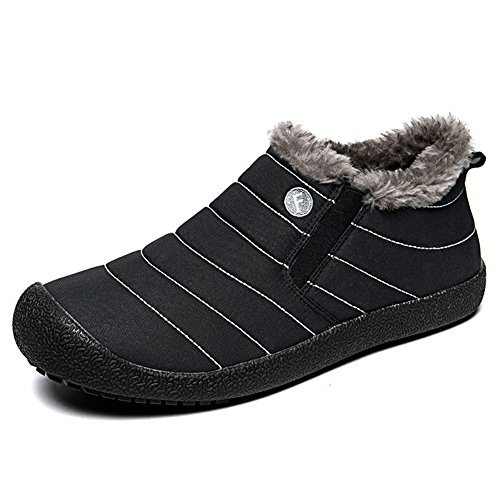 Low Fur High with Ankle Lace 2 Shoes Boots Mens Top Snow CIOR up Top Sneakers Winter black Lining qpfa7w40