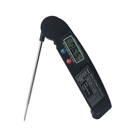 ZREAL termómetro con sonda Digital Plegable Horno de Barbacoa ...