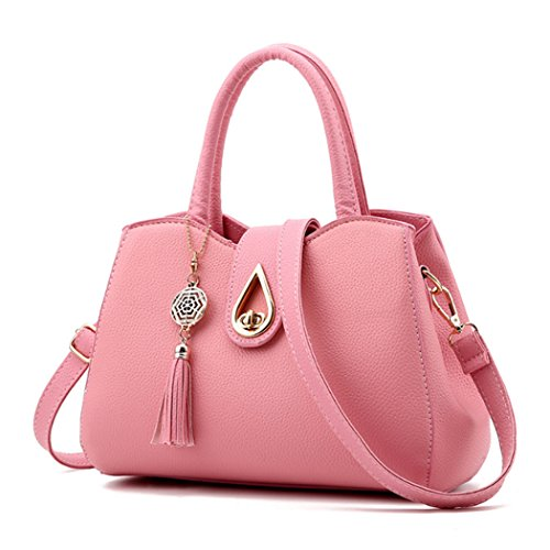 Tote Leather Women Bags Shoulder Heart with Messenger Pink Faux Purse Women Handbag New Bag w4IgqFg