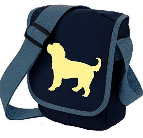 Silhouette Dog Reporter Choice Bag Bag Gift of Cockapoo Bag Cocker Cross Spaniel Bag Cream Poodle Blue Dog Cockerpoo Shoulder Colours ROxYYP