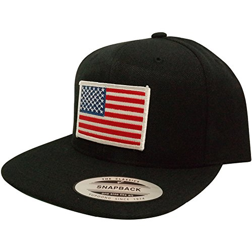 flexfit original snapback with patriotic american flag
