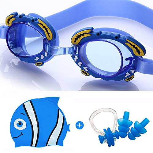 Kids Swimming Goggles with Swim Cap + Ear Plugs+ Nose Clip , Children Swim Goggles Clear Vision+No Leaking + Anti-Fog + UV Protection,Swim Kit for Kids Child Girls Boys Early - Online For Pay Prescription