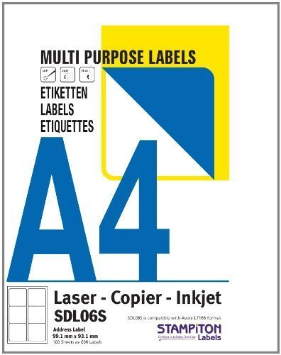 100 A4 Sheets (2700 Labels) Address / Barcode Labels by OFA Products (Suitable for Amazon FBA Stickering) 27 Labels per Page 63.5 x 29.6 mm OFA Labels