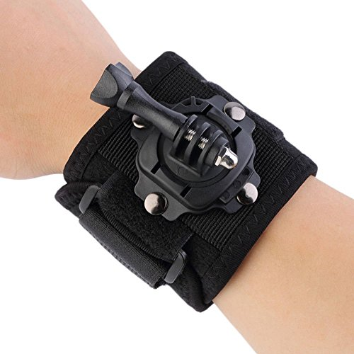 Action Pro 360 Degree Rotating Band Glove, Wrist Strap Hand Mount Compatible with GoPro SJCAM Yi EKEN Action Camera
