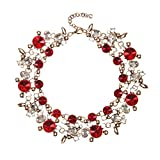 Holylove Statement Necklace for Women Novelty Jewelry Red with Gift Box-8059Red