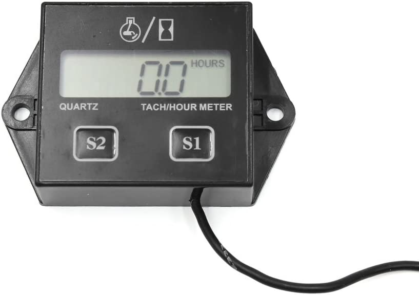 uxcell Universal ATV Car Motorcycle Digital Inductive Spark Connector Tachometer Hour Meter