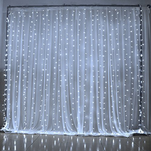 Amazon.com: Ucharge Led Light Curtain Icicle Lights 300led 9.8feet ...