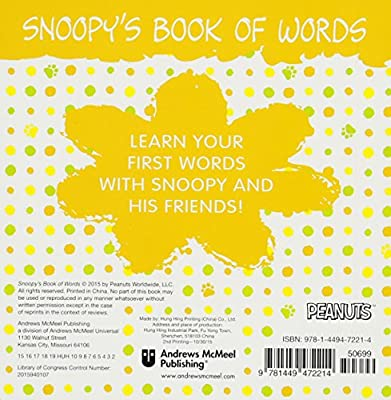 Snoopy's Book of Words: Charles M  Schulz: 9781449472214