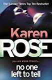 No One Left to Tell by Karen Rose front cover