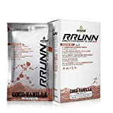 Unived RRUNN Post Workout Sports Recovery Drink Mix with 4:1 Carbohydrates:Protein, BCAAs, Electrolytes, VIT-C, Ashwagandha KSM-66 & Curcumin Extract, Coco Vanilla Flavor, 6 Packets (0.75lbs, 341g)