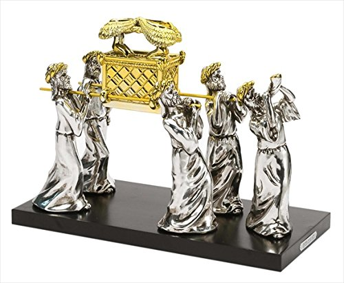 Statue - Ark Of The Covenant w/Priests On Wood Base