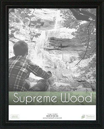 Supreme Solid Wood Picture Frame Color: Black, Size: 9
