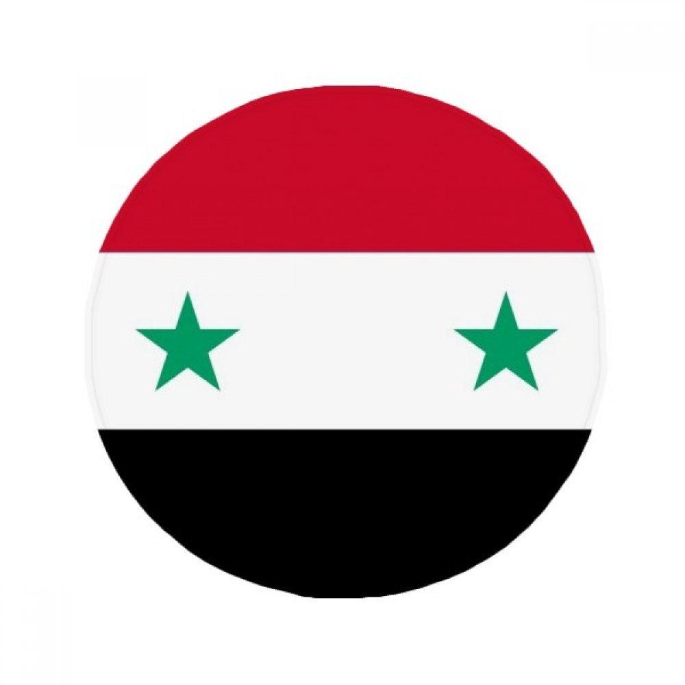 60X60cm DIYthinker Syria National Flag Asia Country Anti-Slip Floor Pet Mat Round Bathroom Living Room Kitchen Door 60 50Cm Gift