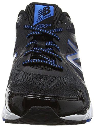 New Balance 680v4, Zapatillas Deportivas para Interior para Hombre Multicolor (Black)