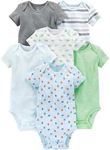 Simple Joys by Carter's Boys' 6-Pack Short-Sleeve Bodysuit
