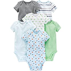 Simple Joys by Carter's Baby Boys 6-Pack Short-Sleeve Bodysuit