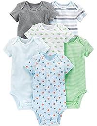 Boys' 6-Pack Short-Sleeve Bodysuit