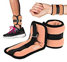 Nicole Miller - Ankle/Wrist Weights / 5 LB. (Pair) - (Black/Peach)