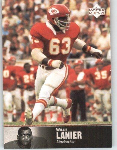 (1997 Upper Deck Legends Football Card # 45 Willie Lanier - Kansas City Chiefs - NFL Trading Card)