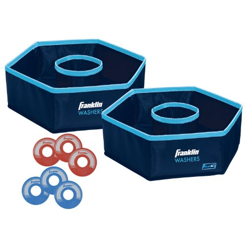 Franklin Sports Collapsible Washer Set - Includes 6 Washers with Bottle Openers and Carrying Case