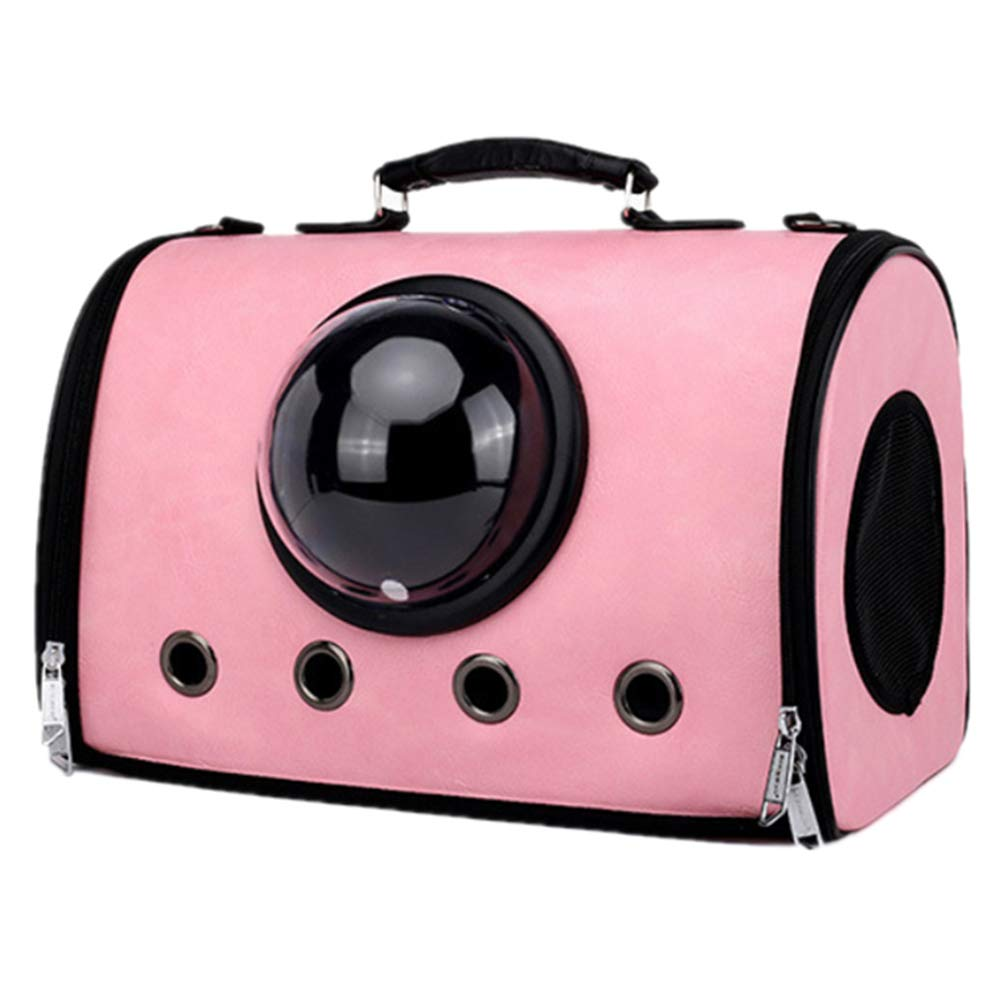 NZH Pet Bag Cat Bag Outing Carrying Bag Pu Breathable Dog Bag Folding Transparent Space Bag Comfortable And Breathable