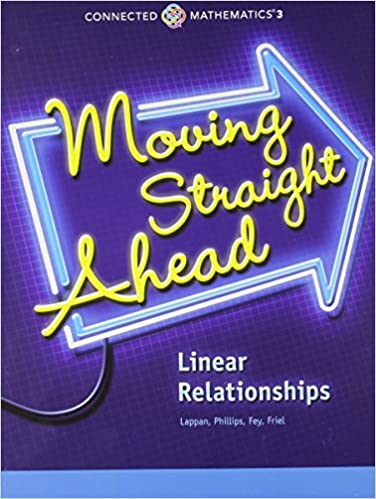 Amazon moving straight ahead linear relationships grade 7 moving straight ahead linear relationships grade 7 connected mathematics by prentice hall fandeluxe Image collections