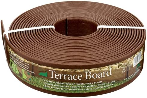 Master Mark Plastics 93340 Terrace Board Landscape Edging Coil 3 Inch by 40 Foot, Brown 2 Pack