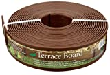flower bed edging Master Mark Plastics 93340 Terrace Board  Landscape Edging Coil  3 Inch by 40 Foot, Brown