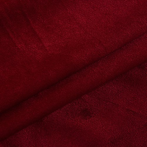 Cherry Home Set of 2 Classic Blackout Velvet Curtains Panels Home Theater Grommet Drapes Eyelet 52Wx63L-inch Red(2 panels)Theater| Bedroom| Living Room| Hotel by Cherry Home (Image #8)