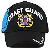 The Hat Depot Official Licensed Military U.S. Coast Guard Cap (Black)