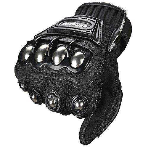 ILM Steel Knuckle Motorcycle ATV Motocross Dirt Bike Racing BMX MX Downhill Tactical Gloves (M, BLACK) by ILM (Image #4)