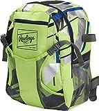 Rawlings Boys' Tee Ball Backpack, Neon Green, Youth