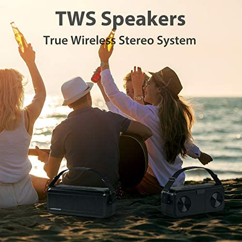 Bluetooth Speakers, WIMUUE 40W Loud Wireless Portable Speaker Built-in 8000mAh Power Bank, IPX6 Waterproof, TWS, TF Card, Equalizer, Bluetooth V5.0, Indoor & Outdoor 516kkipte7L