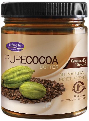 Life-Flo Organic Pure Cocoa Butter, 9-Ounce 645951316062