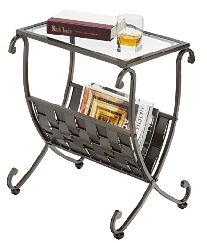 Mango Steam Melbourne Magazine Rack Side Table (Rack Top Wide Magazine)