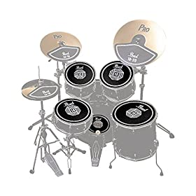 Pearl RP50 Rubber Disk Set for Drum Set (12, 13, 14, 16-inch, Bass Drum) 10