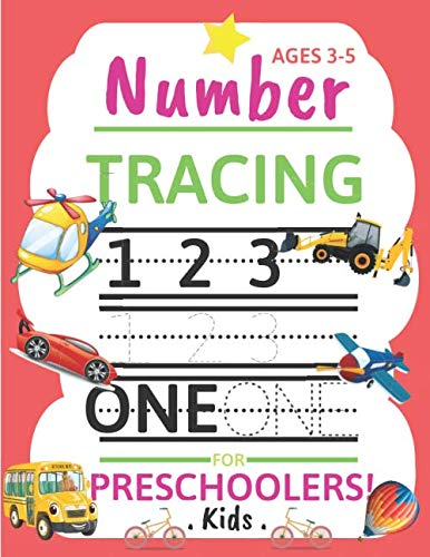 Halloween Toddler Worksheets (Number Tracing for Preschoolers Kids Ages 3-5: Trace Numbers Practice Workbook for Pre K, Kindergarten and Kids Ages 3-5. Great Gift for Toddlers and)